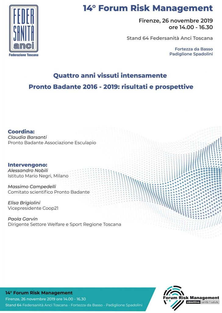 Pronto badante 2016 - 2019